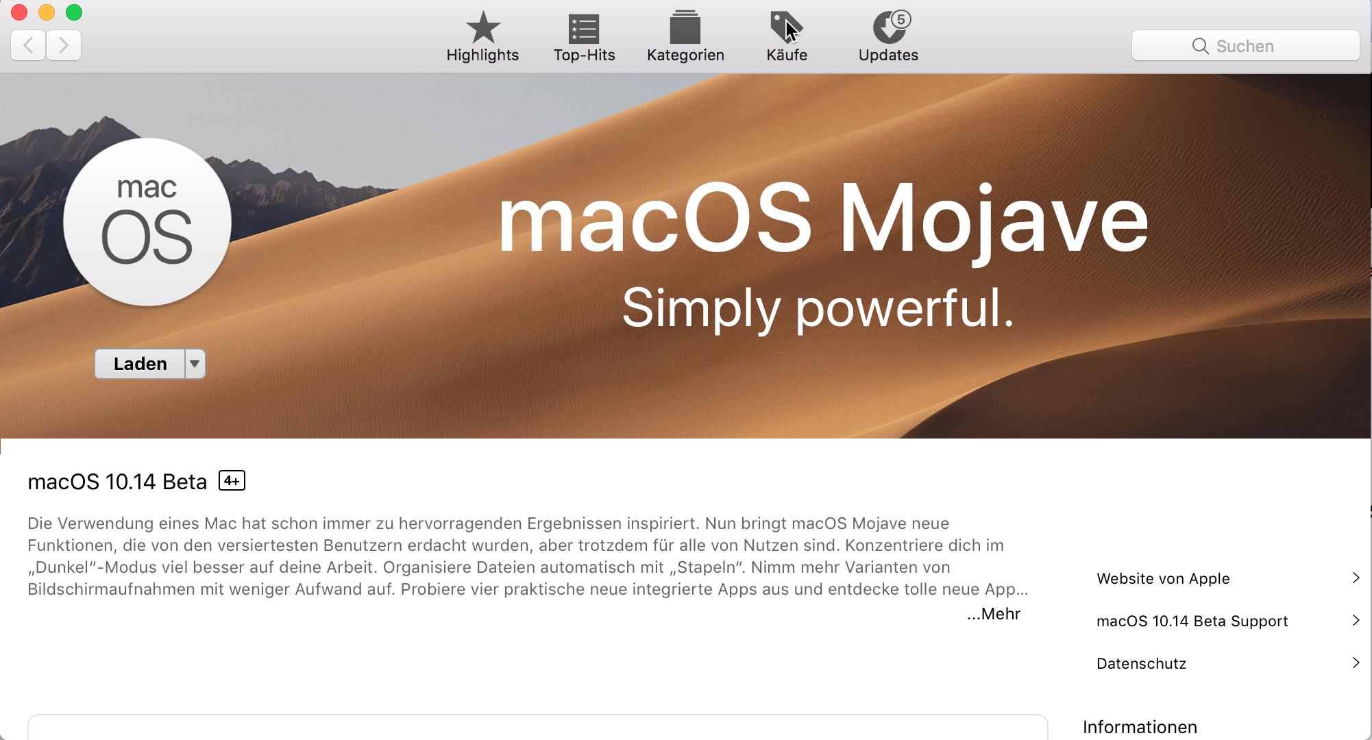 In Arbeit: macOS Mojave als VirtualBox - 7bot de