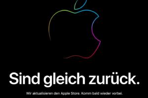 Auch heute ist der Apple Online Store im Vorfeld zur Keynote down bzw. im Wartungsmodus