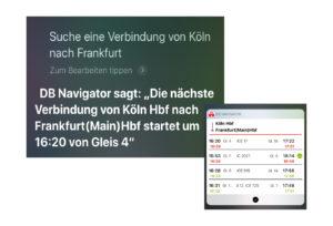 Die App DB Navigator funktioniert ab sofort mit Siri Shortcuts