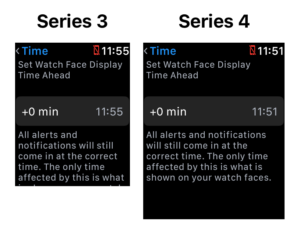 Apple Watch Series 4 Auflösung im Vergleich zur Series 3