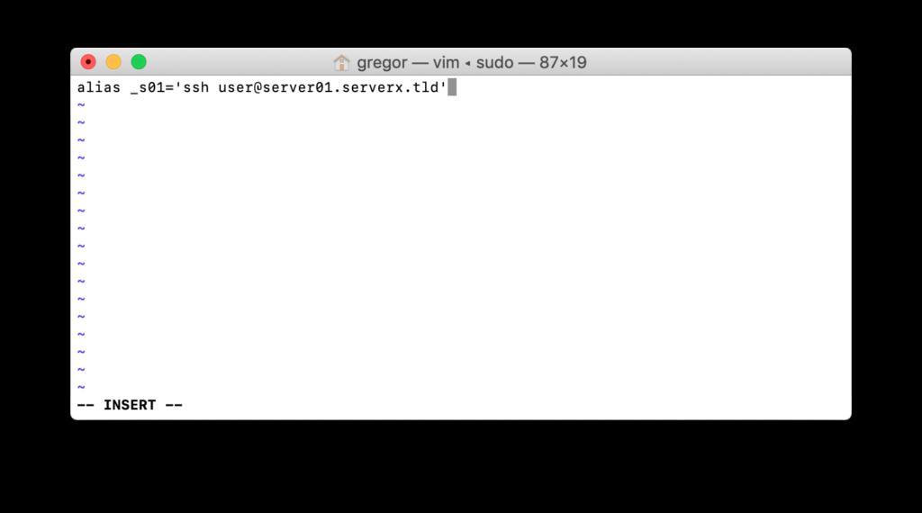 Datei bash_profile mit vi editieren