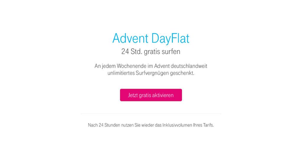 Telekom Adventsgeschenk Advent Dayflat 7botde