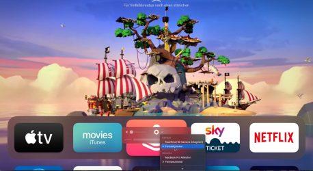 Screenshots und Bildschirmvideos vom Apple TV erstellen